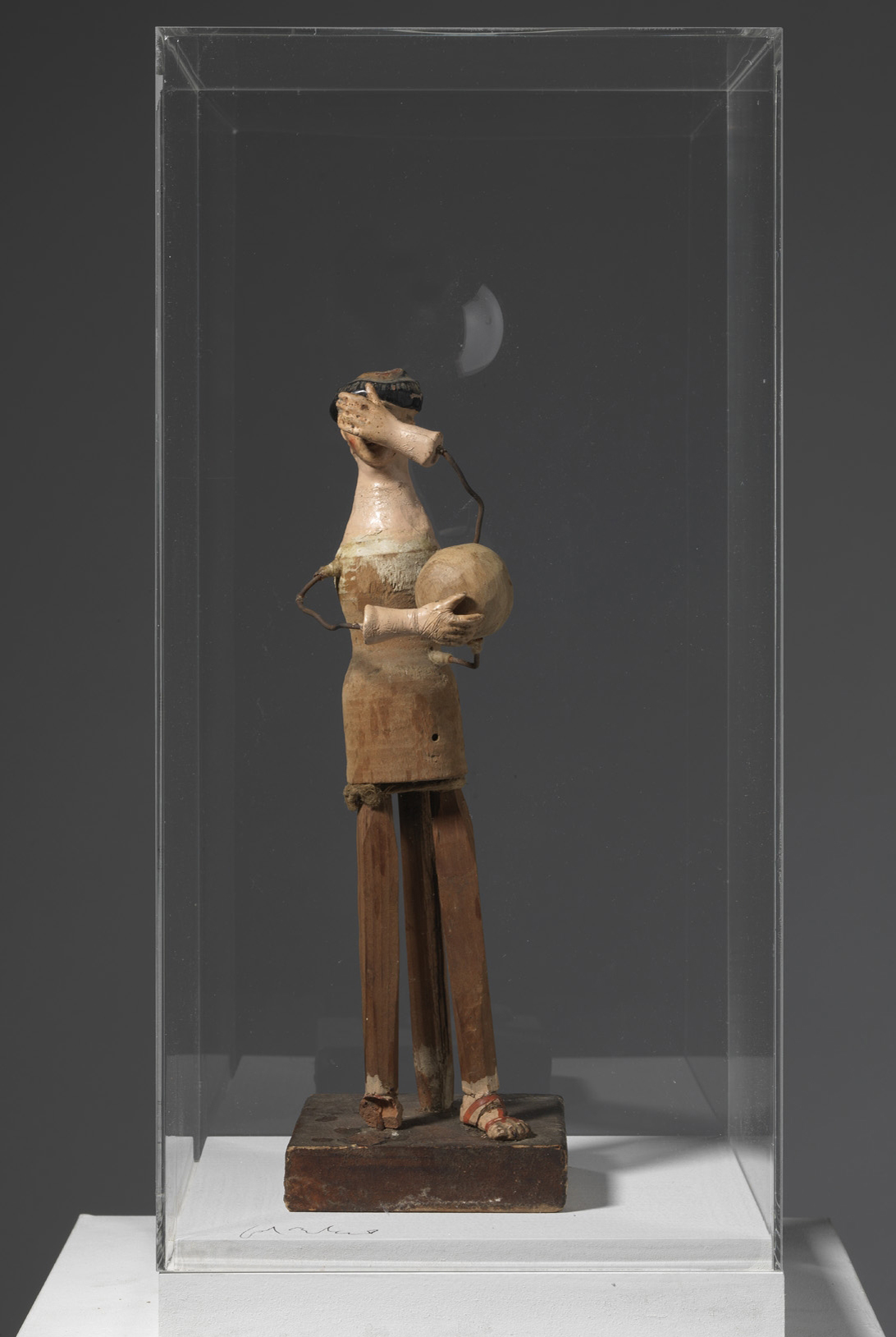 Jordi Alcaraz, Autoretrat com a escultor / Selfportrait as a sculptor, 2011, Skulpturfragmente, Holz, Draht und Methacrylat, 43 x 20 x 20 cm