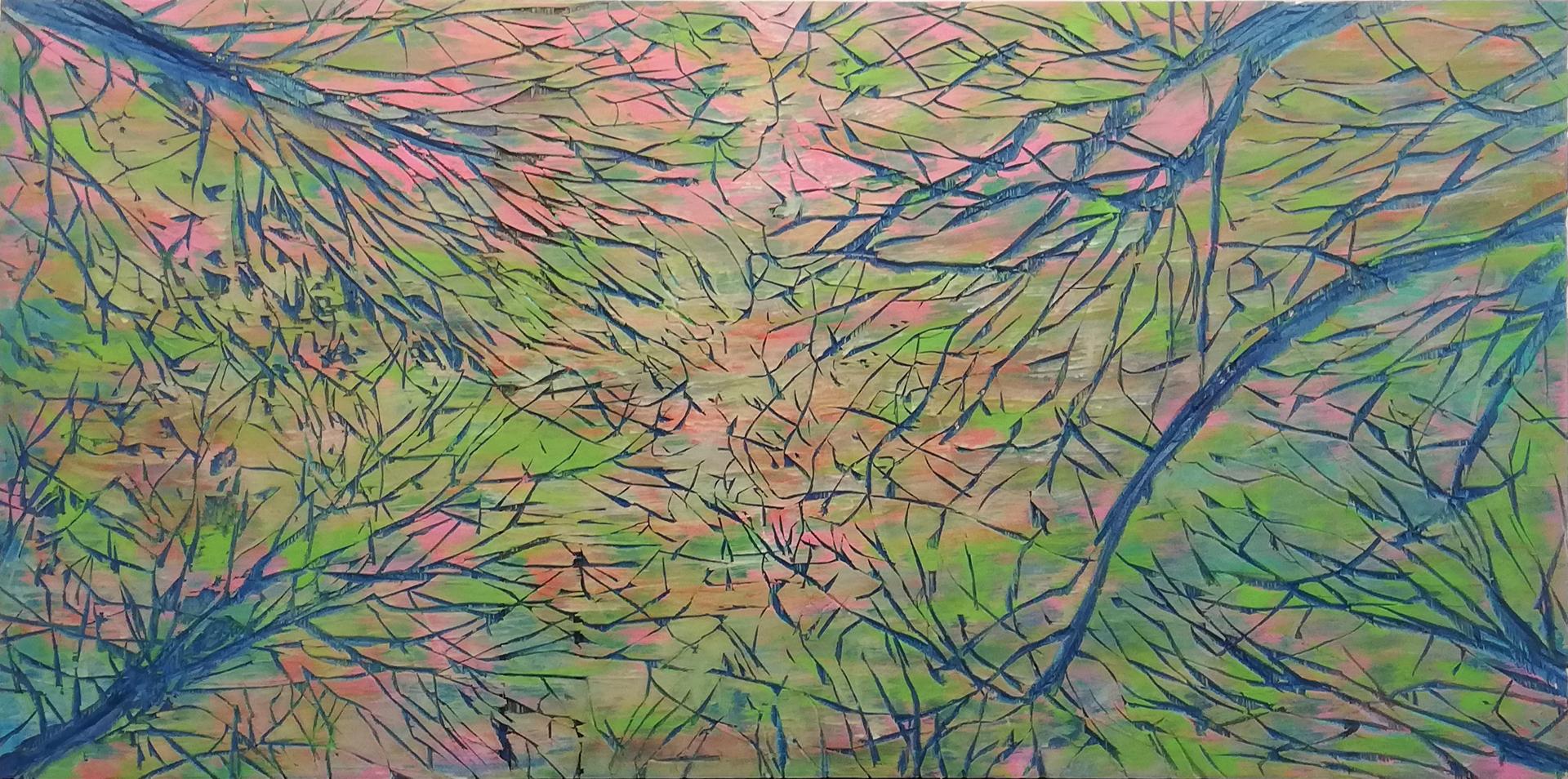 Nicole Bianchet, IRY ME, 2011, Mischtechnick auf Spanplatte, 61 x 112 cm