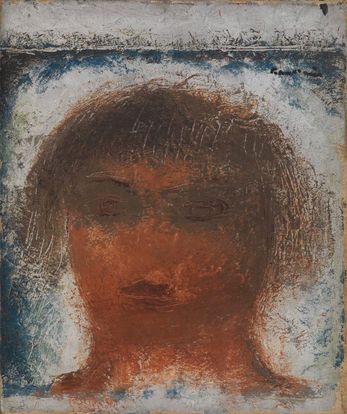 Jean Fautrier, Tête, 1929, Öl auf Leinwand, 32,5 x 27 cm