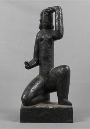 Henri Laurens, Femme au miroir, ca. 1929, Bronze, Höhe: 34 cm