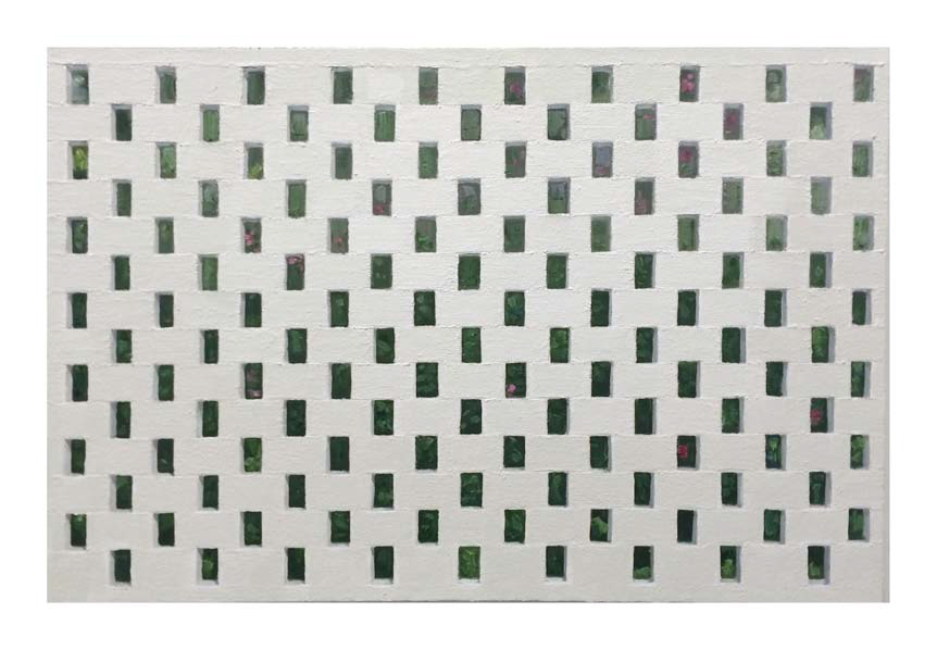 Jonathan Wateridge, Enclave Study No. 11 (Wall), 2015, Öl auf Leinwand, 50 x 75 cm