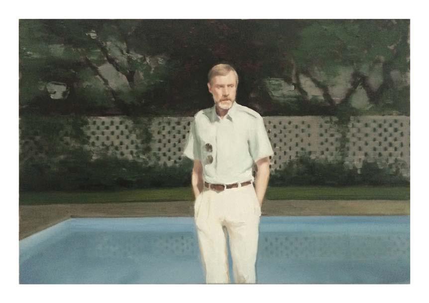 Jonathan Wateridge, Enclave Study No. 21 (Expat), 2015, Öl auf Leinwand, 50 x 75 cm