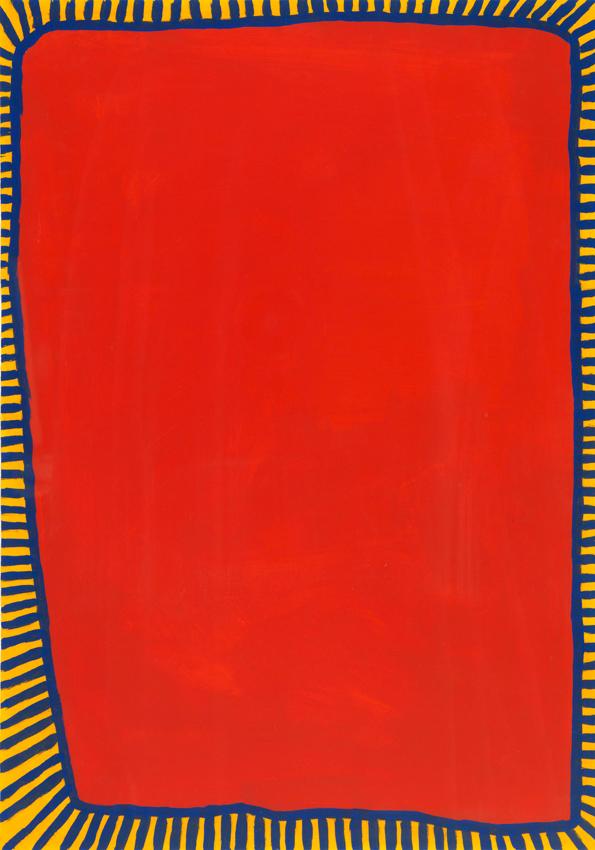 Heinz Butz, Ohne Titel, 1986, Kunstharz und Buntstift auf Papier, 49,4 x 34,6 cm