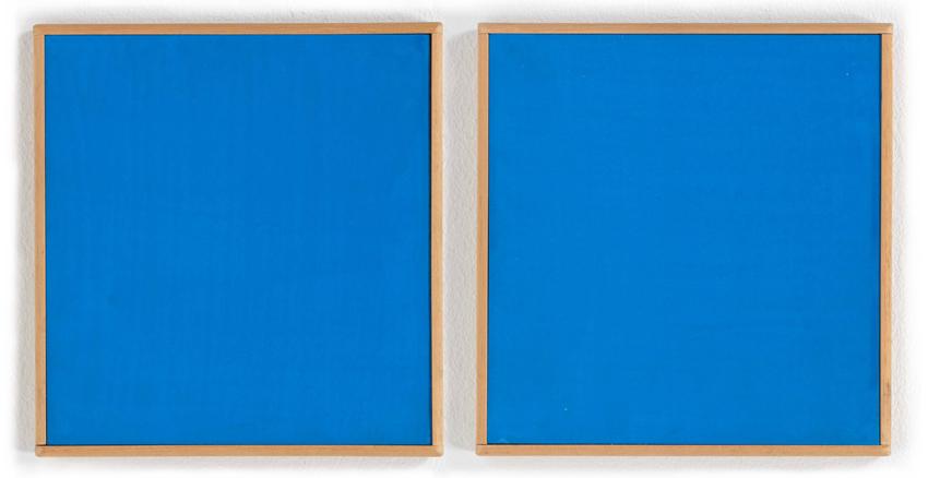 Heinz Butz, Ohne Titel, 1994, Kunstharz auf festem Karton, je 18 x 17 cm