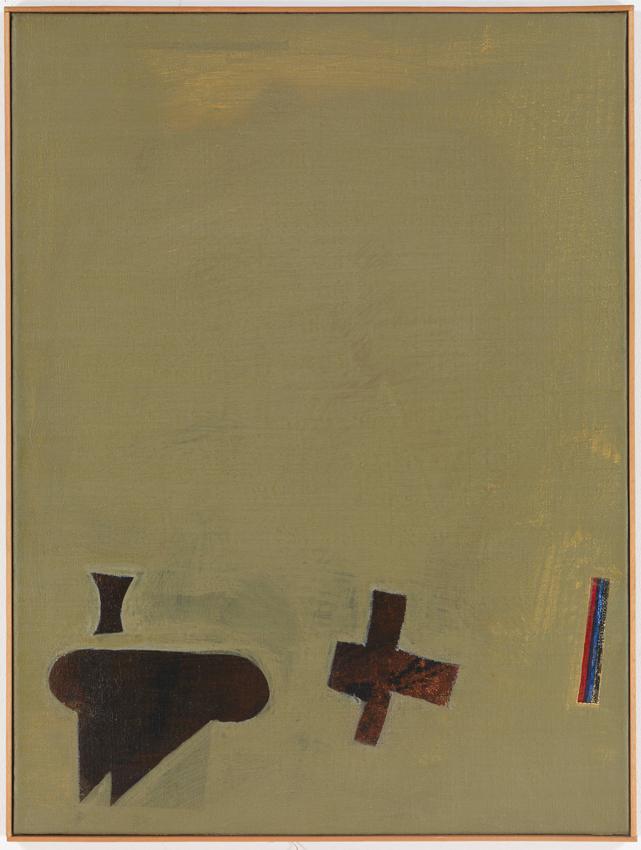 Heinz Butz, Ohne Titel, 1967, Kunstharz auf Maljute, 80 x 60 cm