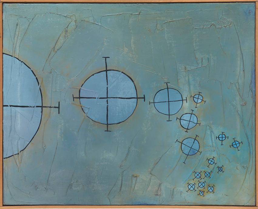 Heinz Butz, Ohne Titel, 1962, Öl auf Leinwand, 40 x 50 cm