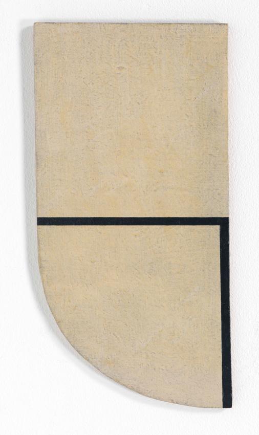 Heinz Butz, Ohne Titel, 1968, Kunstharz auf Spanplatte, 33,7 x 16,9 cm