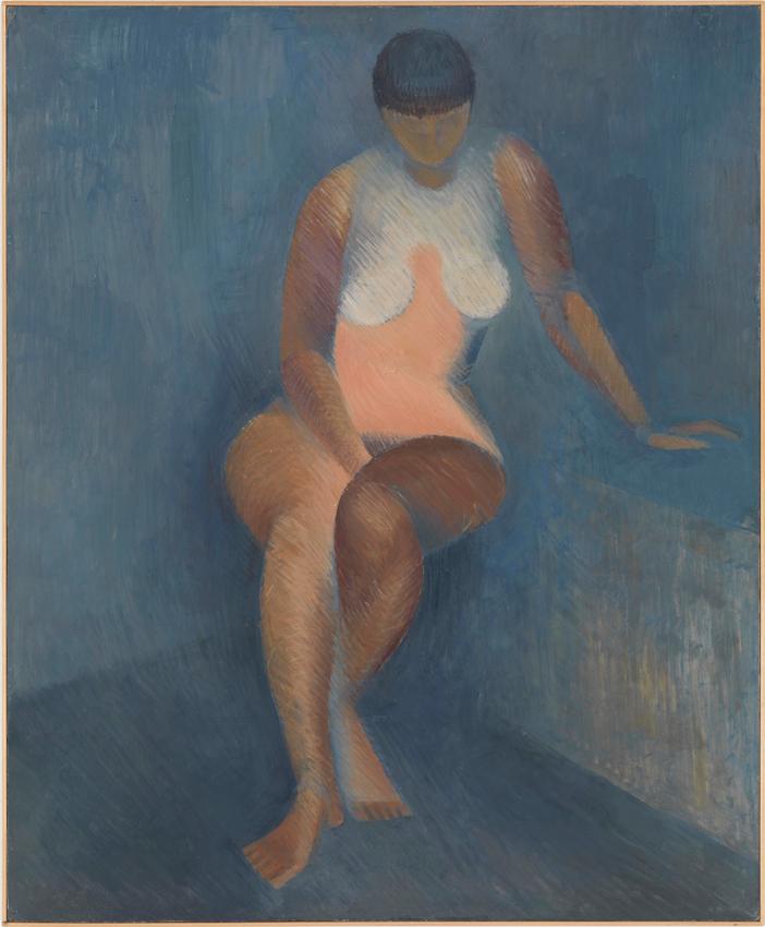 Heinz Butz, Ohne Titel, Öl auf Hartfaser, 84,9 x 70 cm