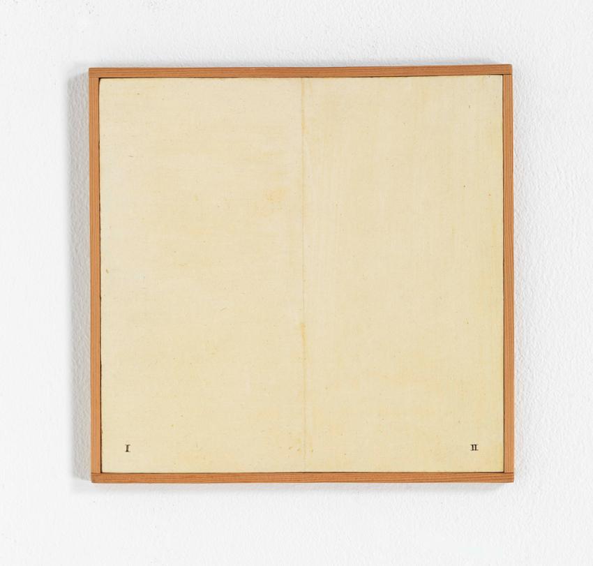 Heinz Butz, Ohne Titel, 1968, Kunstharz auf Spanplatte, 19,7 x 20 cm