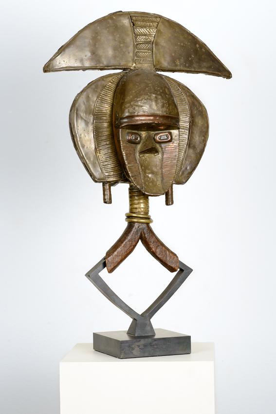 Kota, Gabun, Holz, Metall, 47 x cm