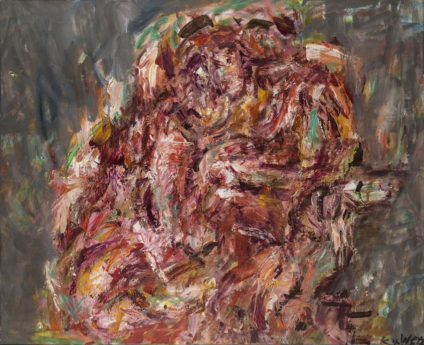 Katharina von Werz, Venus und Adonis (nach Tizian), 2006, Acryl auf Leinwand, 90 x 110 cm