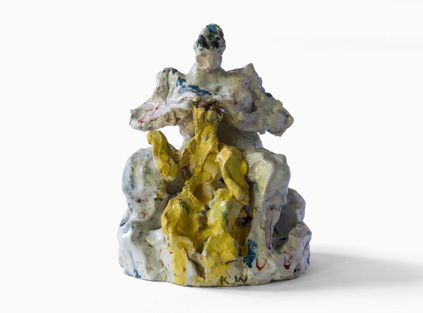 Katharina von Werz, Hendrijke und Titus, 2007, Keramik, farbig glasiert, 20 x 12 x 18 cm