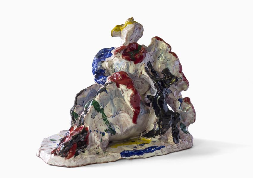 Katharina von Werz, Lola, 2009, Keramik, farbig glasiert, 18 x 22 x 14 cm
