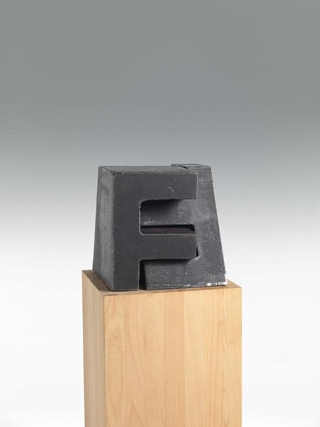 Ansgar Nierhoff, F-Stück, 2007, ST 37, gewalzt, gebrannt, 25 x 25 x 25 cm