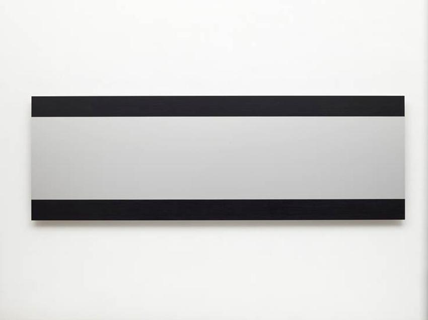 Frank Gerritz, Cinemascope I Definition Of Light, 2012, Ölwachsstift auf eloxiertem Aluminium, 60 x 180 cm