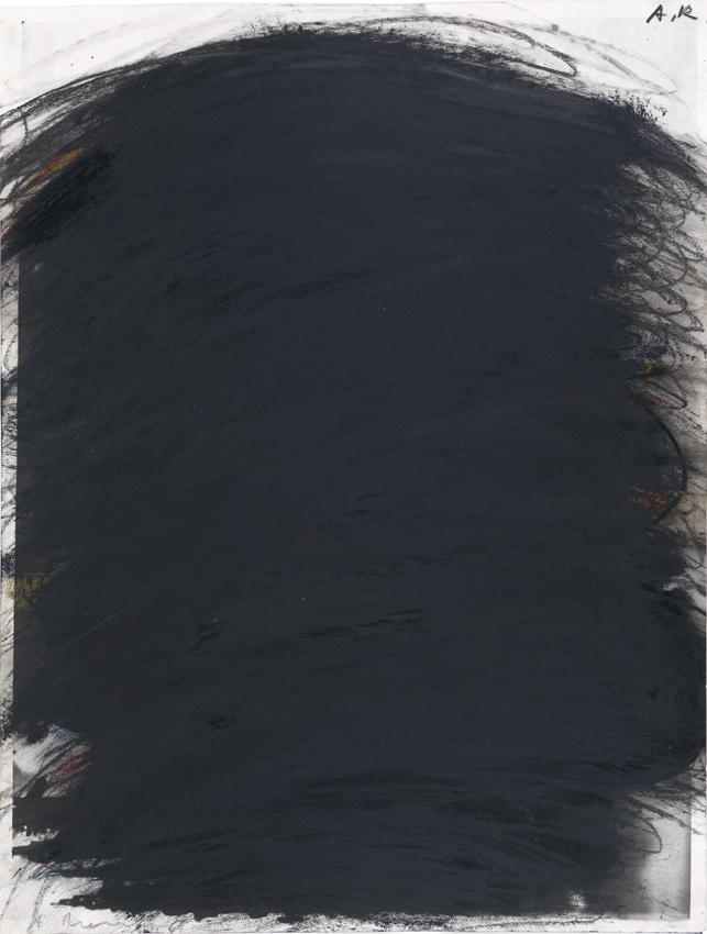 Arnulf Rainer, Übermalung, 1961, Ölkreide und Tusche auf Papier, 51,6 x 39,6 cm