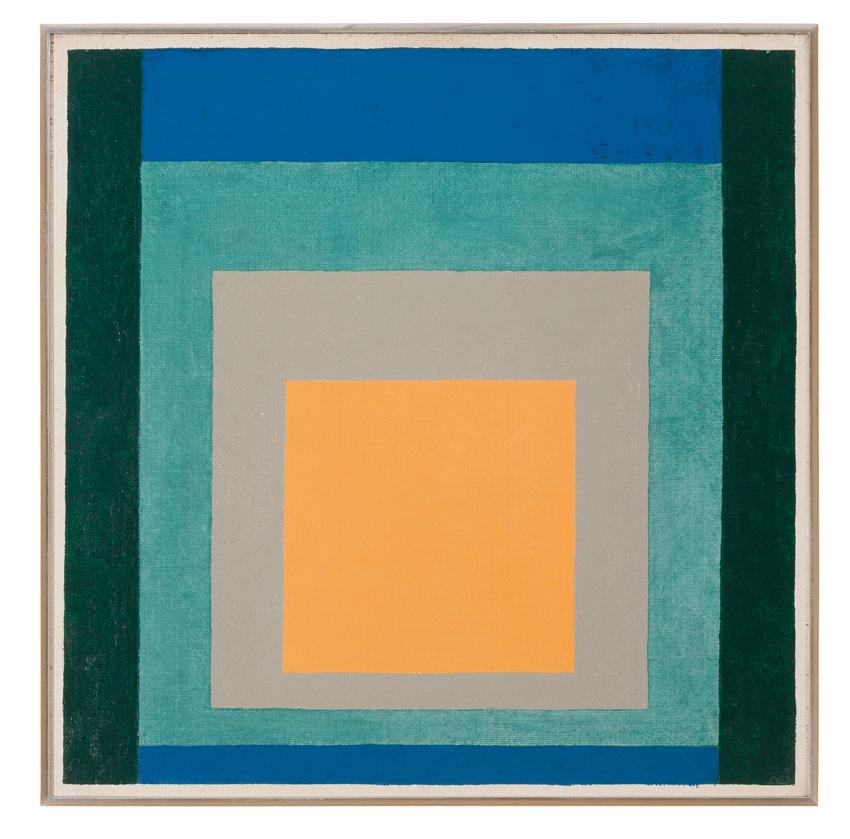 Josef Albers, Variation zu Homage to the Square, 1958, Öl auf Hartfaserplatte, 60 x 60 cm