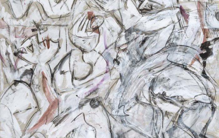 Katharina von Werz, Adam und Eva im Frühling, 2008, Acryl auf Pappe, 80 x 100 cm