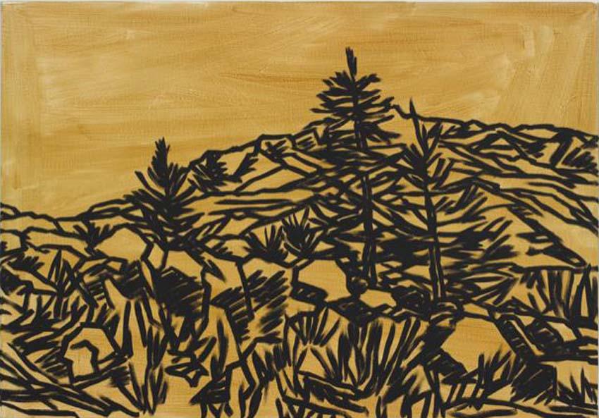 Anne Loch, o.T., 1999, Lack/Acryl auf Leinwand, 90 x 130 cm