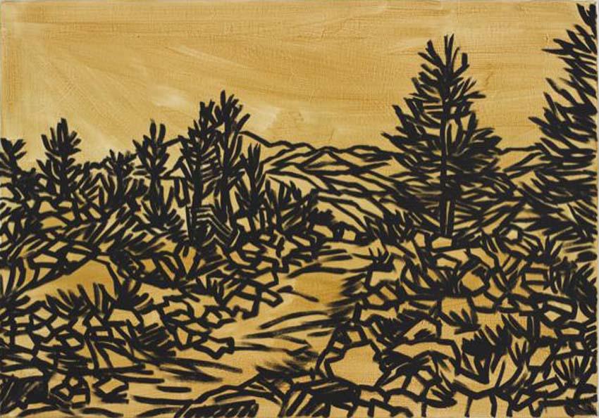 Anne Loch, o.T., 2000, Lack/Acryl auf Leinwand, 90 x 130 cm