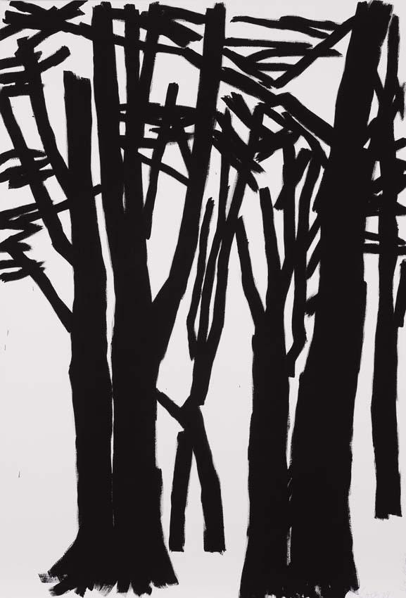 Anne Loch, o.T., 2004, Acryl auf Leinwand, 210 x 145 cm