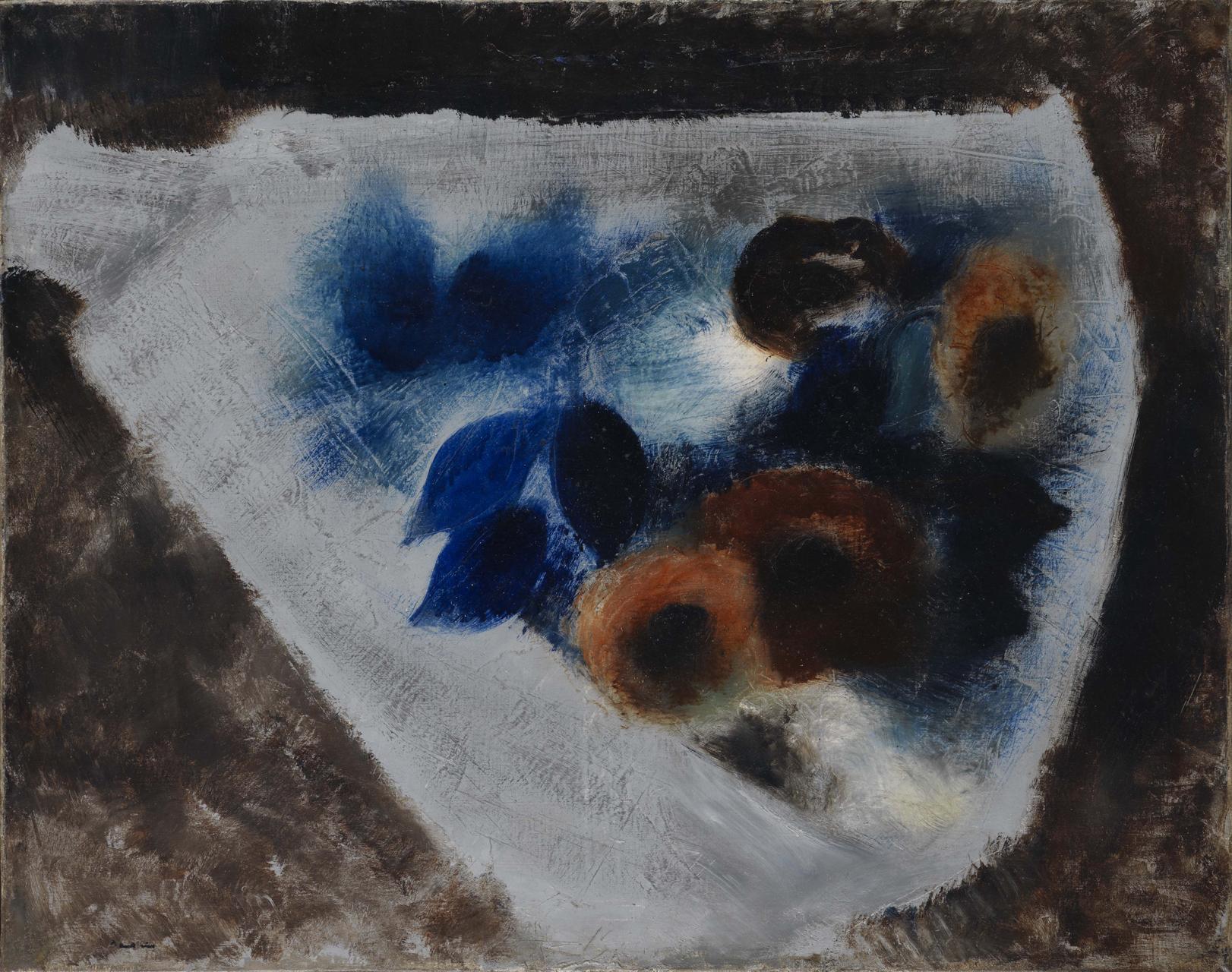 Jean Fautrier, Jetée de feurs, um 1929, Öl auf Leinwand, 72,5 x 92,5 cm