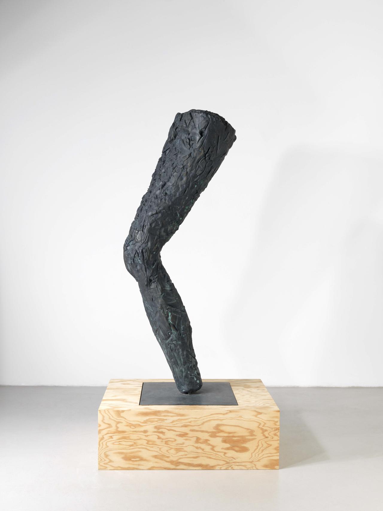 Günther Förg, Bein, 1993, Bronze, 165 x 35 x 35 cm