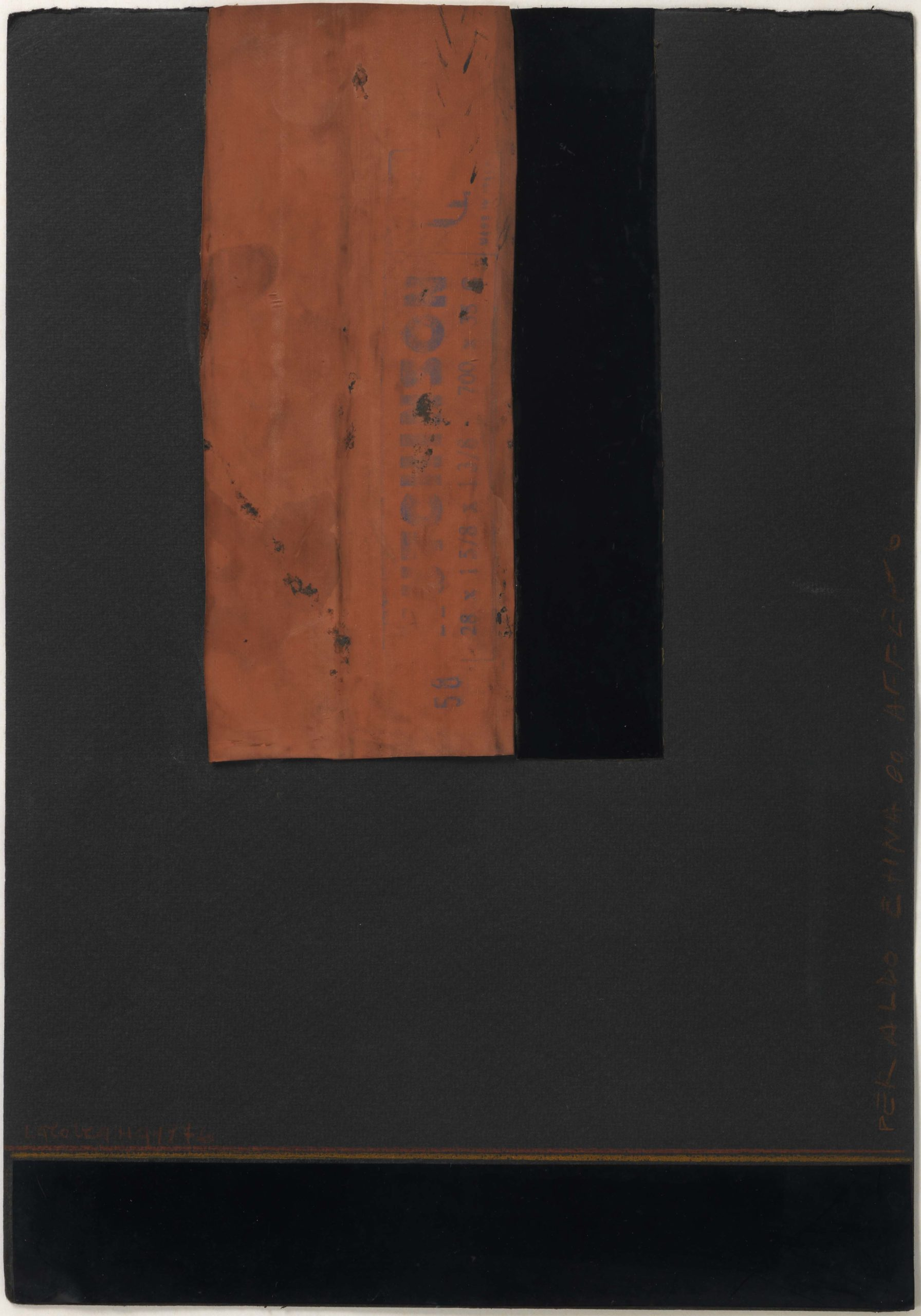 Carol Rama, Senza titolo, 1976, Collage aus verschiedenen Materialien auf Karton, 35 x 24,5 cm