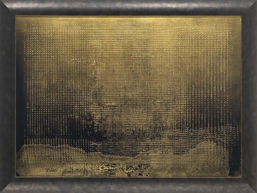 Otto Piene, Echo, 9572, Rasterbild auf Karton, 73,5 x 101,7 cm