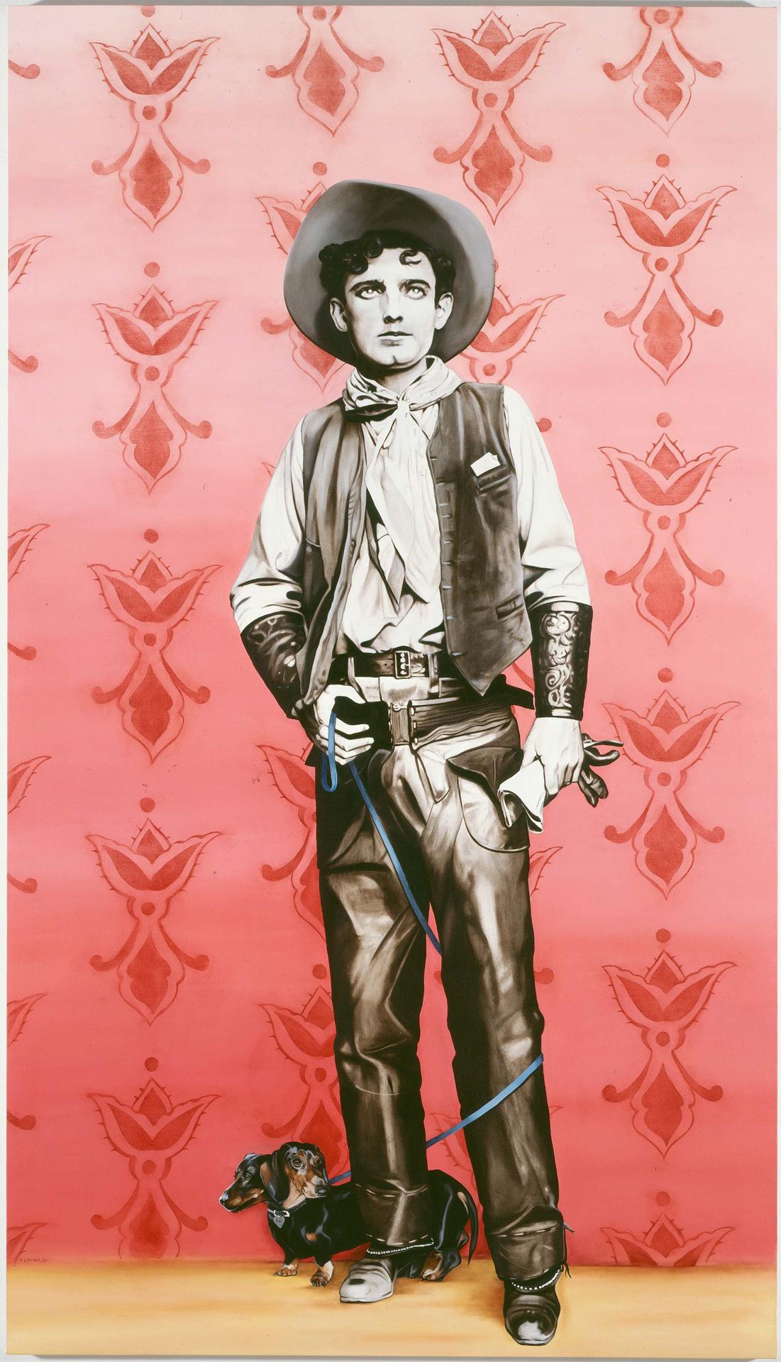 Marianna Gartner, The Double Whammy, 2007, Öl auf Leinwand, 244 x 137,5 cm