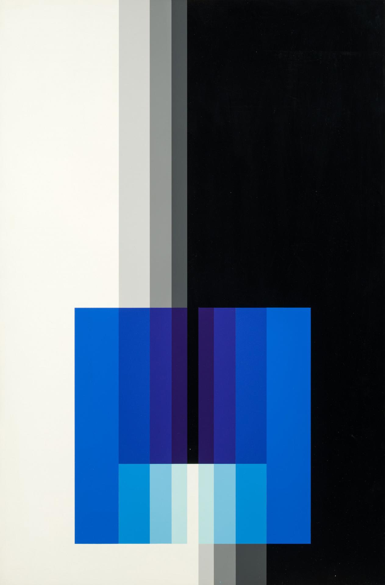 Karl Gerstner, Chromorphose 3.04, ab 1958, Nitrolack auf Aluminium, 93 x 61 cm