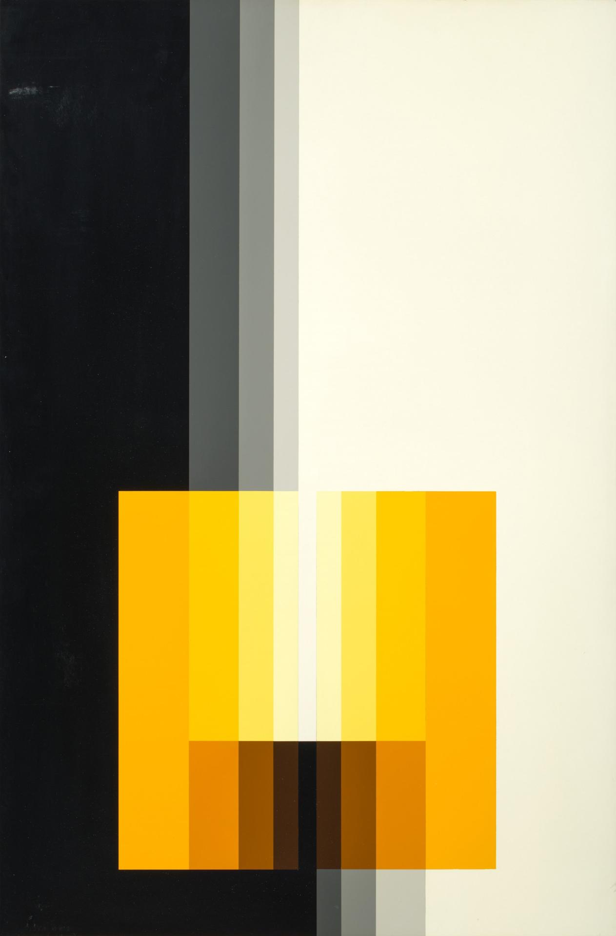 Karl Gerstner, Chromorphose 3.14, ab 1958, Nitrolack auf Aluminium, 93 x 61 cm