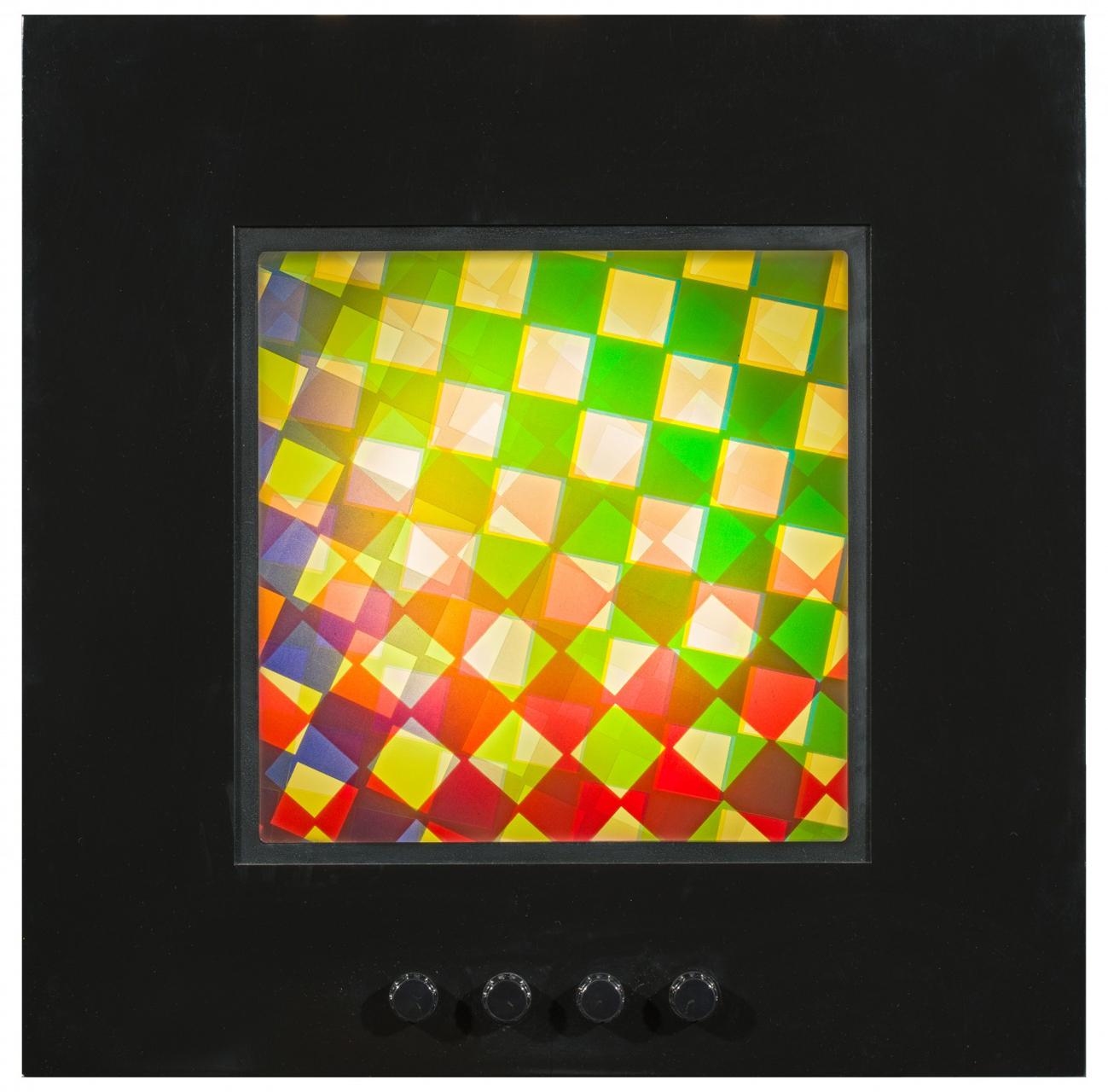 Karl Gerstner, Structure Picture 9 (Struktur Bild), 1958, 62/66 Lichtinstallation, 80 x 80 x 17 cm
