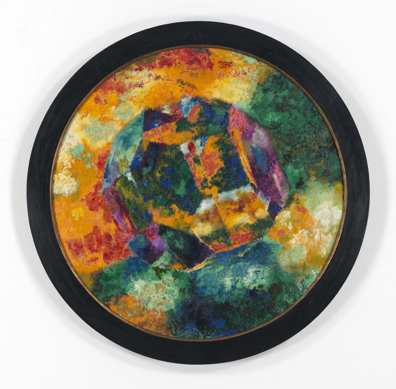 Augusto Giacometti, Glaspolyeder Tondo, 1919, Öl auf Leinwand, 116 x 116 cm
