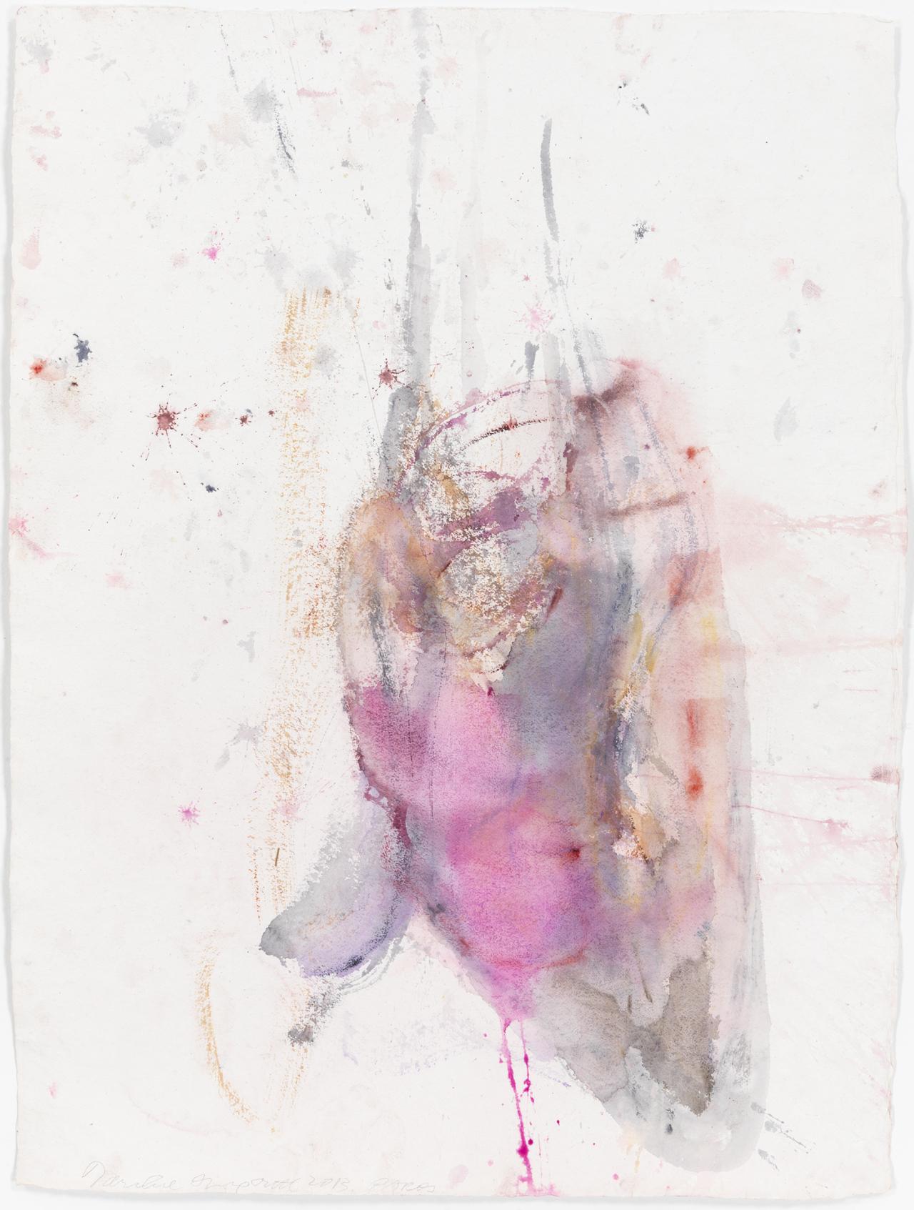 Martha Jungwirth, Medusa, aus der Serie ,Paros', 2013, Aquarell auf handgeschöpftem Papier, 139,9 x 105,2 cm