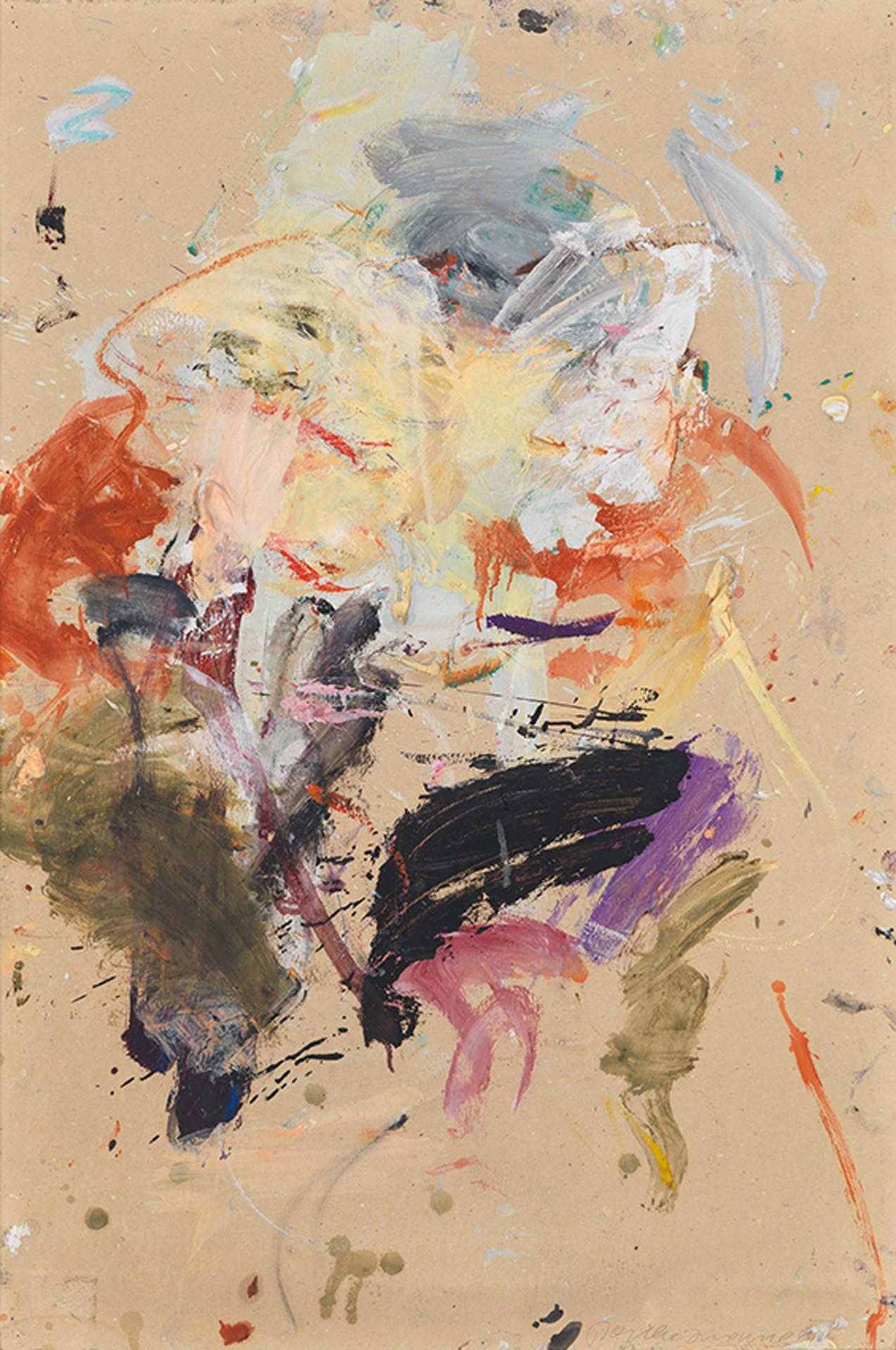 Martha Jungwirth, ohne Titel, 1985, Öl auf Karton, 105 x 70 cm
