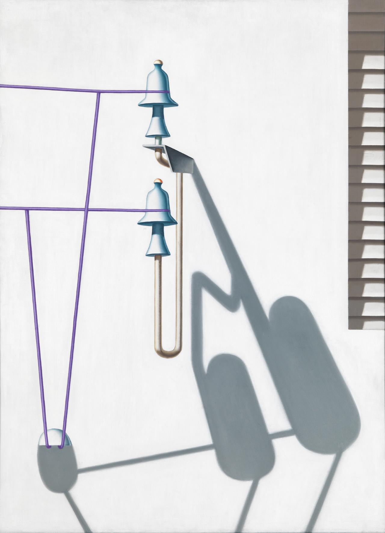 Konrad Klapheck, Die Verschwörung, 1967, Öl auf Leinwand, 109 x 80 cm