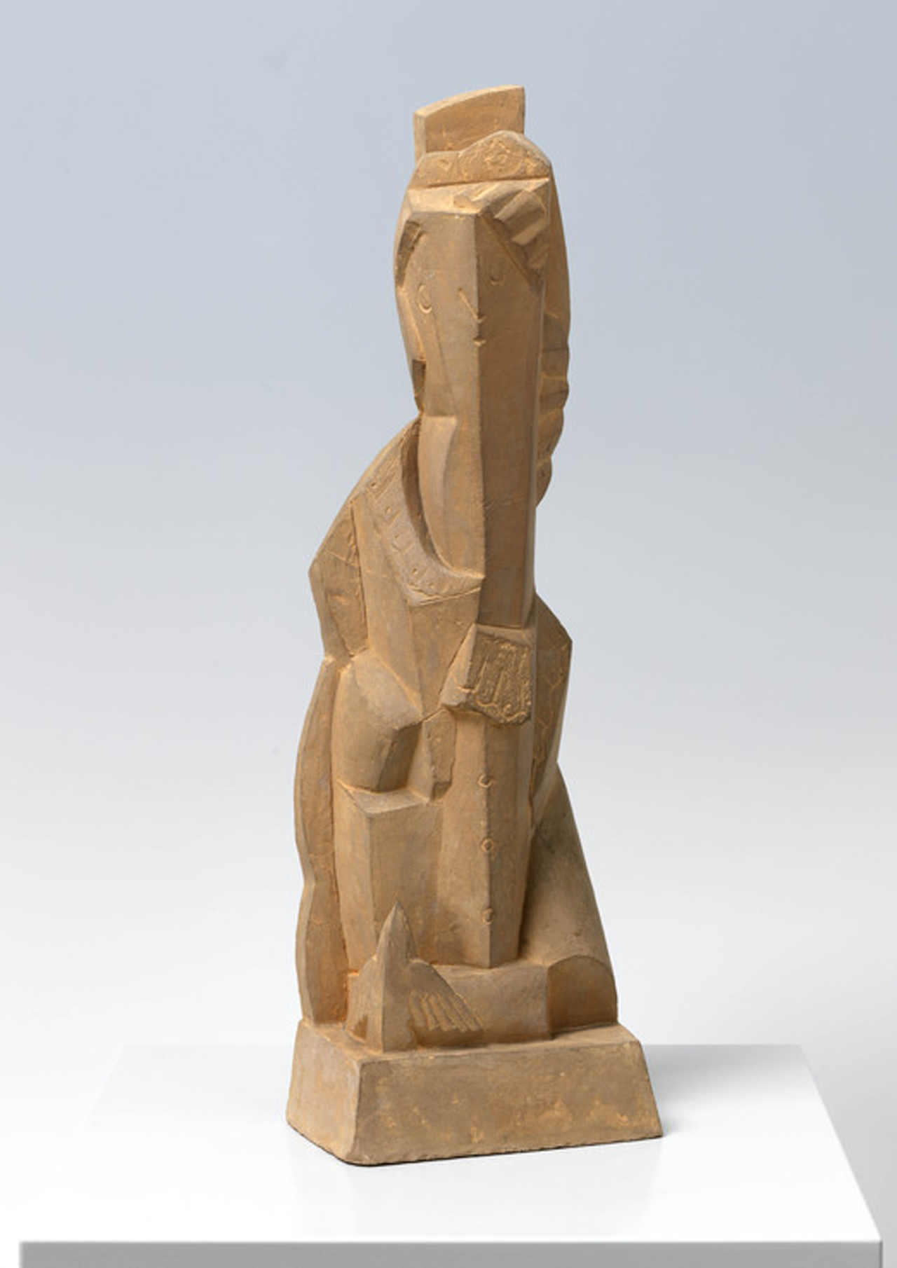 Henri Laurens, Femme à l'oiseau, 1921-1922, Terracotta, 34,3 x 11 x 7 cm