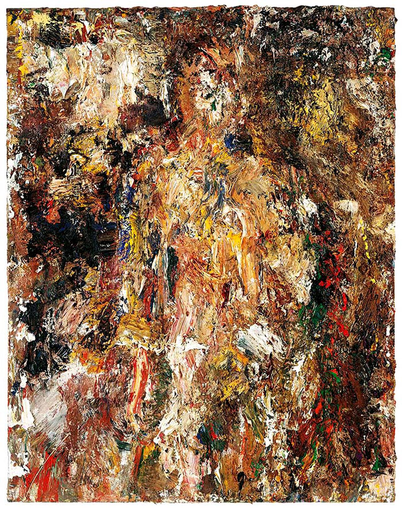 Eugène Leroy, Le long été, 1991, Öl auf Leinwand, 145 x 114 cm