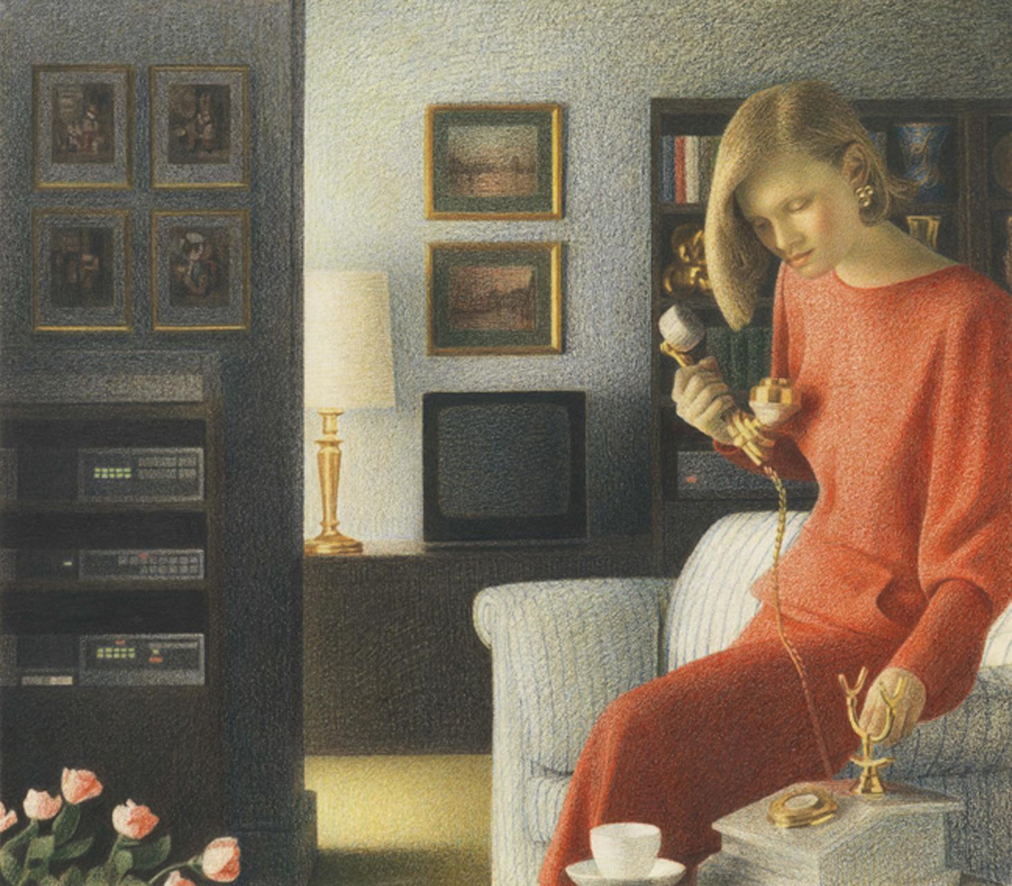 Graham Little, Rose Lady, 2010, Farbstift und Gouache auf Papier, 27,6 x 31,8 cm