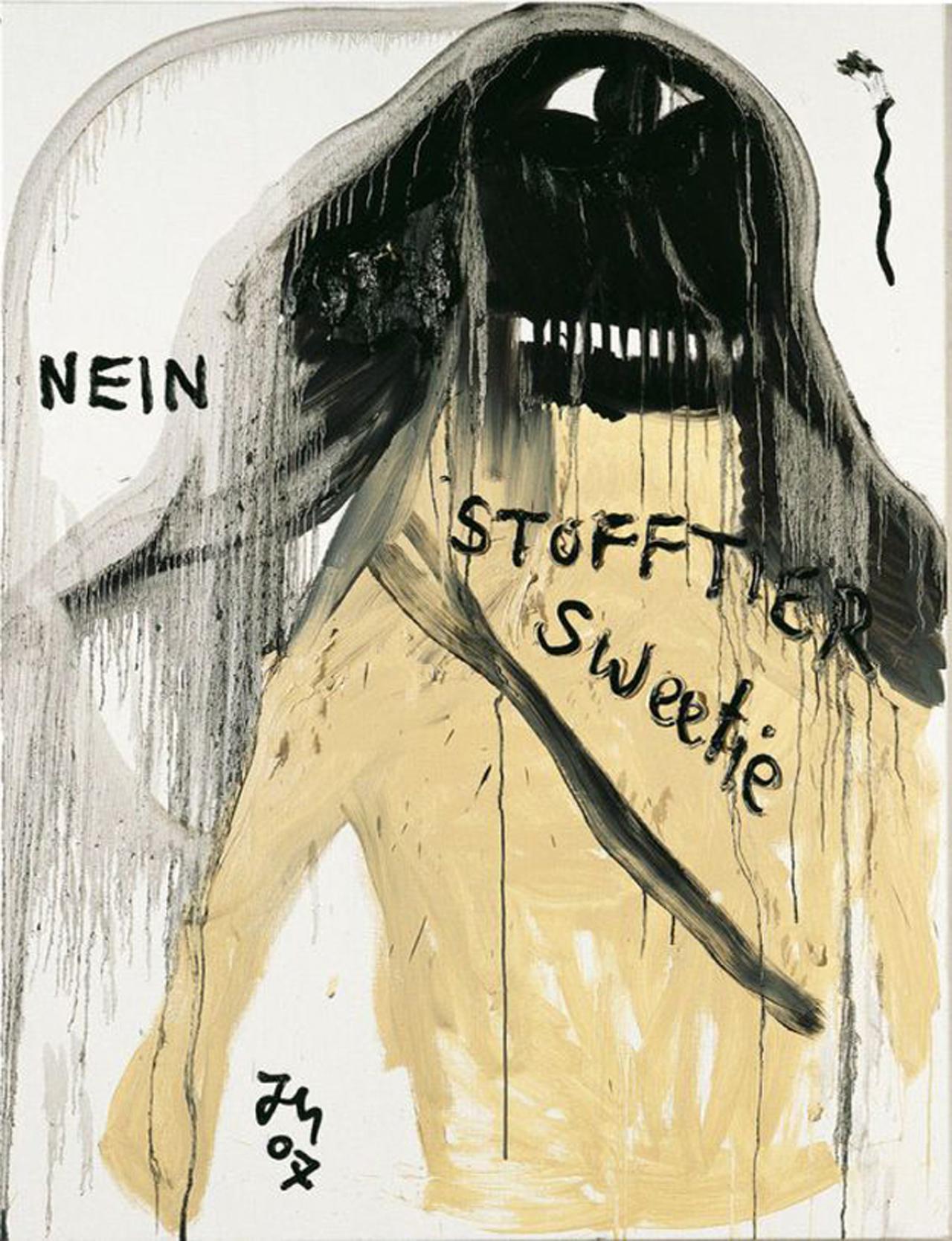 Jonathan Meese, Du bist süsser als Kupfer, 2007, Öl auf Leinwand, 170 x 130 cm
