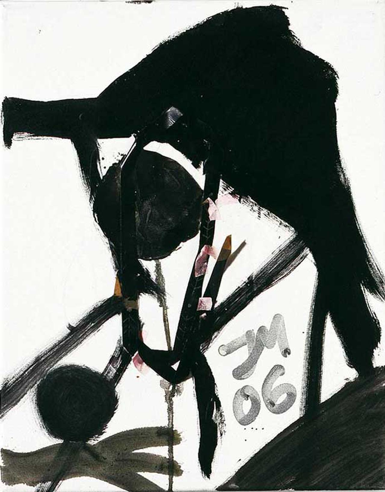 Jonathan Meese, Rosa Hulsch, 2006, Öl und Mischtechnik auf Leinwand, 50 x 40 cm