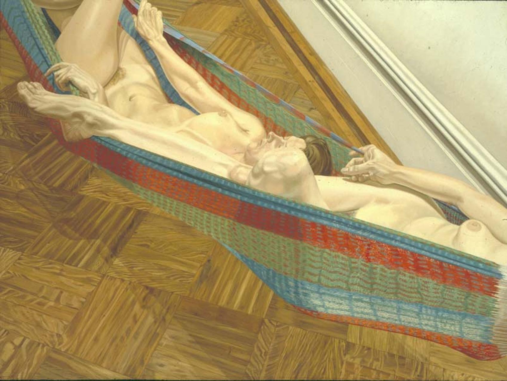 Philip Pearlstein, Two Female Models in Hammock, 1978, Öl auf Leinwand, 183 x 244,5 cm