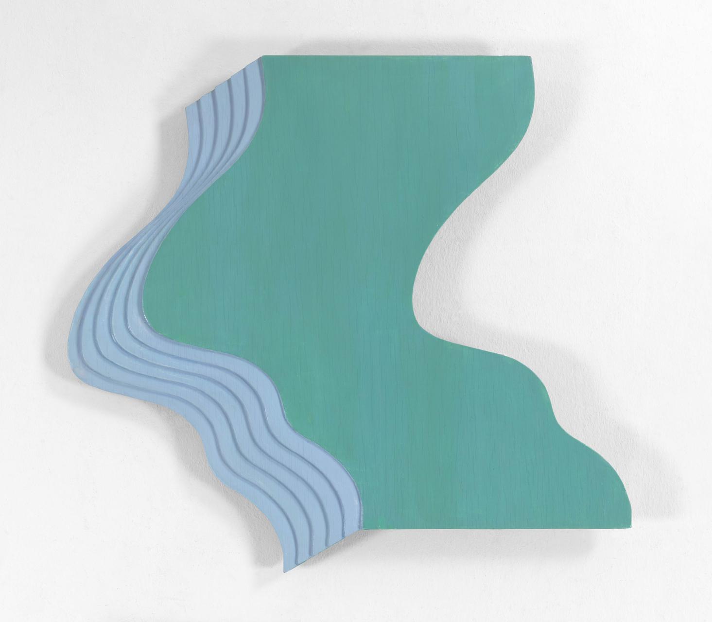 Markus Raetz, La Plage, 1966, Kunstharz auf Sperrholz, Relief in sechs Schichten, 69,4 x 70,5 cm
