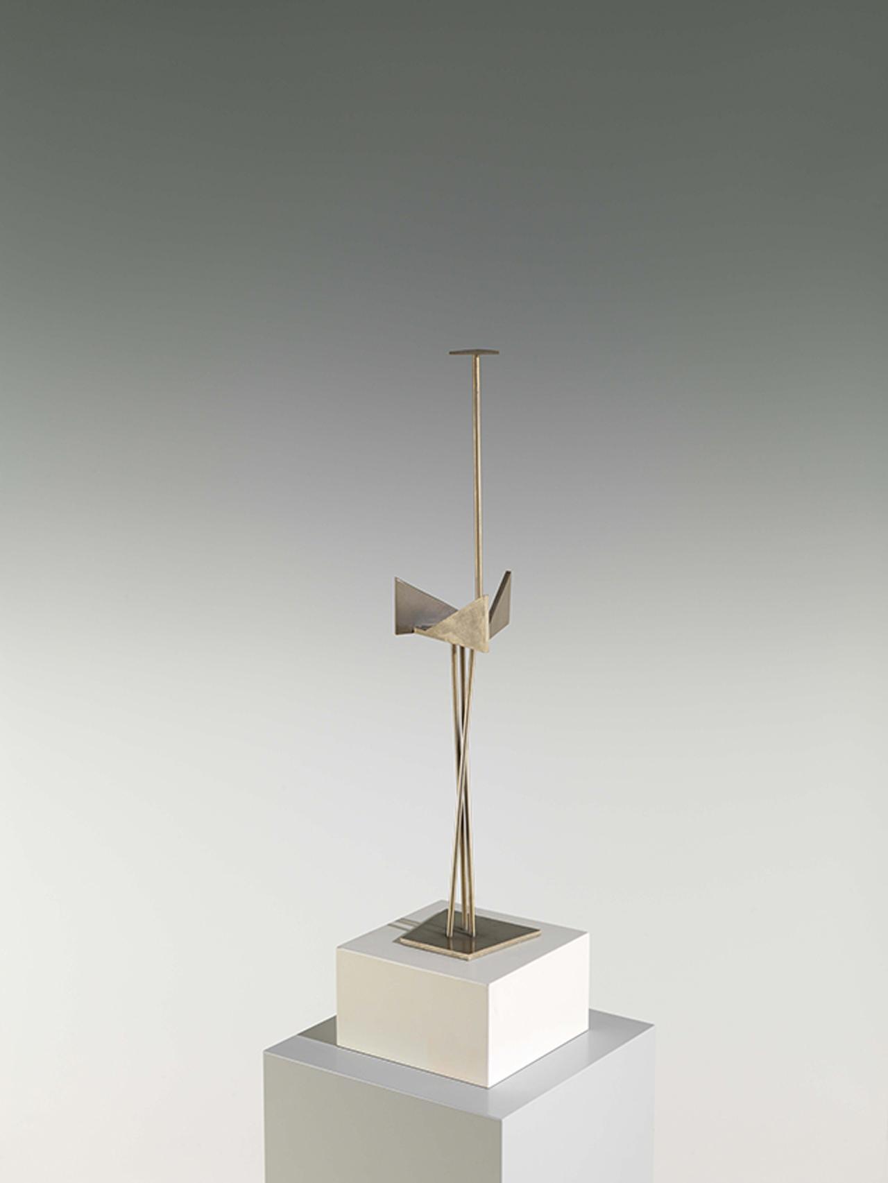 Hans Uhlmann, Stahlskulptur, kleine Fassung, 1958, Stahl, blank, 51,5 x 10,5 x 9 cm
