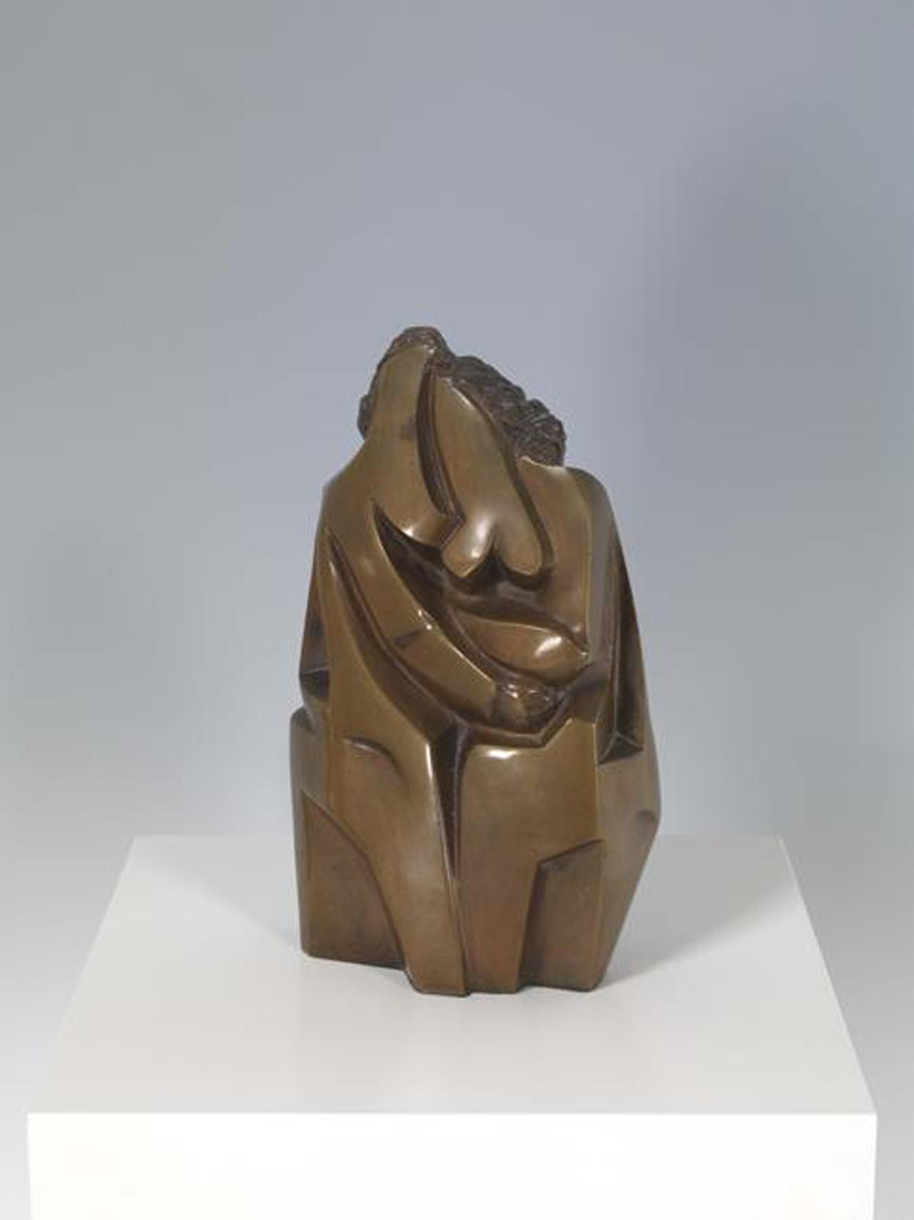 Hans Uhlmann, Schwestern, 1947, entworfen und gegossen Bronze, 27,5 x 17 x 8,3 cm