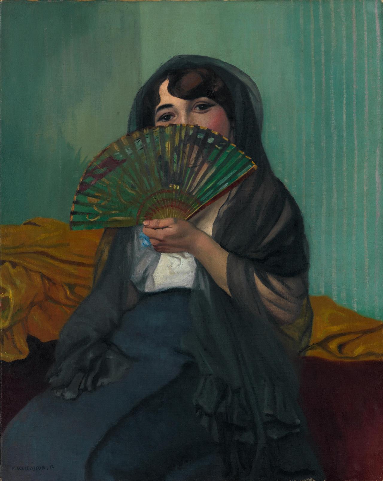 Félix Vallotton, Femme à léventail, 1912, Öl auf Leinwand, 81 x 65 cm