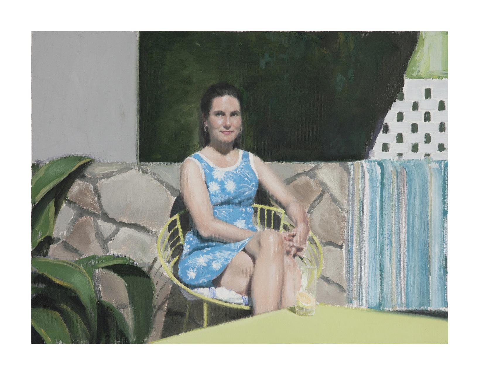 Jonathan Wateridge, Enclave Study No. 6 (Expat), 2015, Öl auf Leinwand, 45 x 60 cm