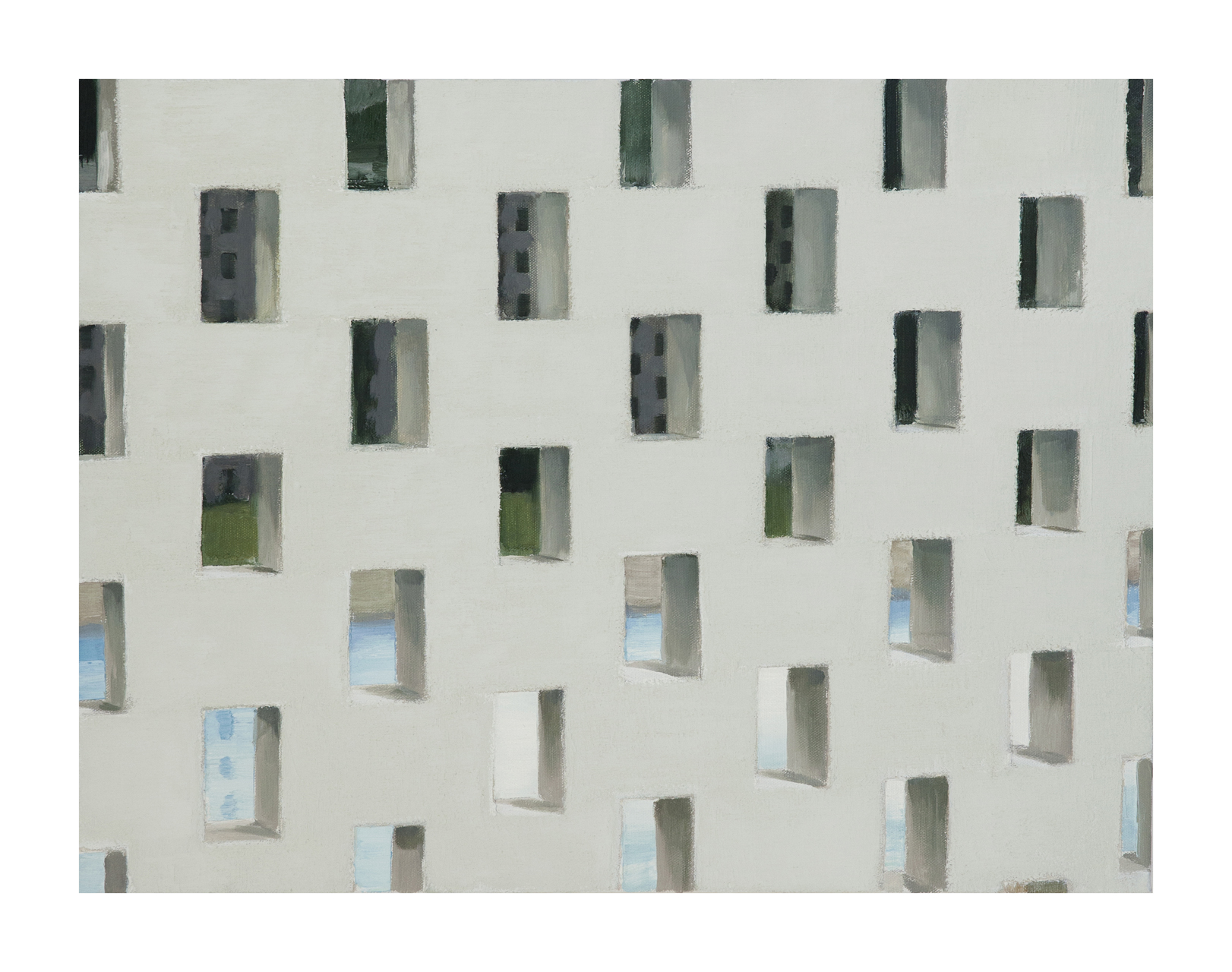 Jonathan Wateridge, Enclave Study No. 7 (Wall), 2015, Öl auf Leinwand, 45 x 60 cm