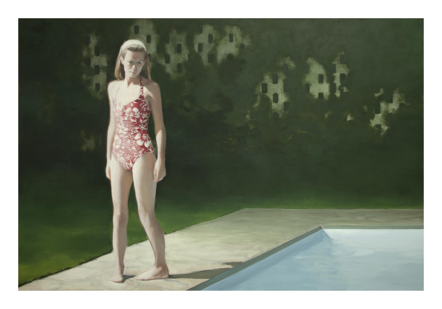 Jonathan Wateridge, Pool, 2017, Öl auf Leinwand, 180 x 270 cm